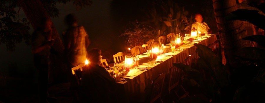 Dinners Under the Stars, only at Zopango Island!